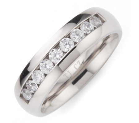 DIAMONIQUE® TITAN Memoire-Ring = 0,45ct poliert