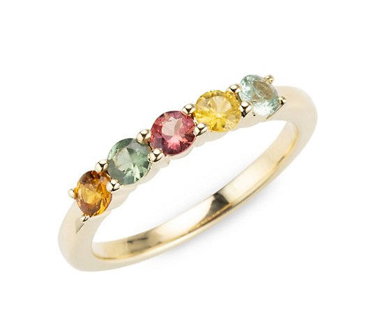 ROYELLE Saphire, multicolor Ring zus. ca. 1,00ct Gold 585