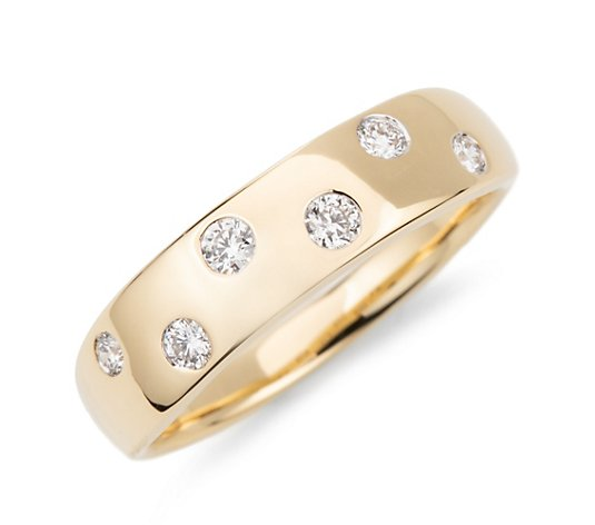 CANADIAN DIAMONDS Ring 6 Brillanten zus. ca. 0,20ct Gold 750