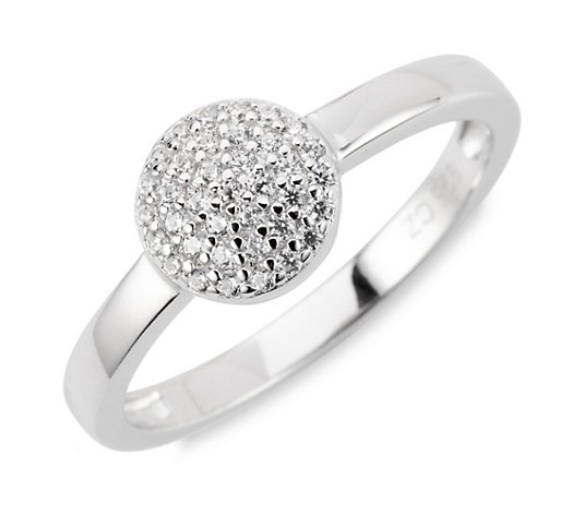 DIAMONIQUE® Ring = 0,18ct Brillantschliff Silber rhodiniert