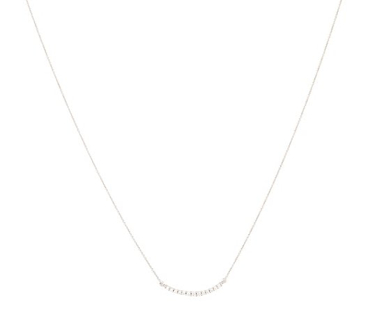 DIAMOUR Collier 13 Brillanten zus. ca. 0,13ct Weißgold 585