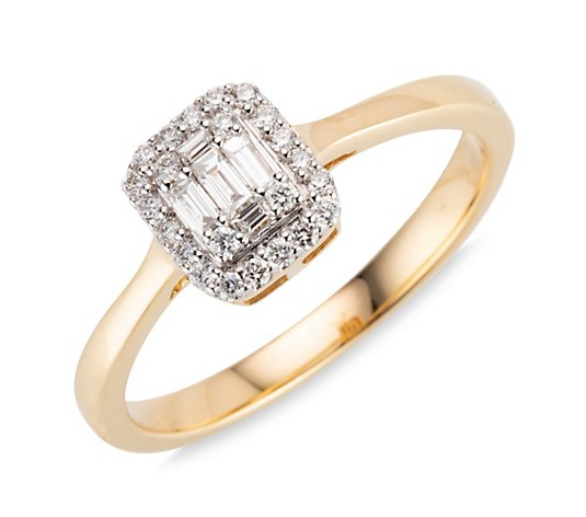 DIAMOUR Ring 28 Diamanten zus. ca. 0,25ct Gold 585