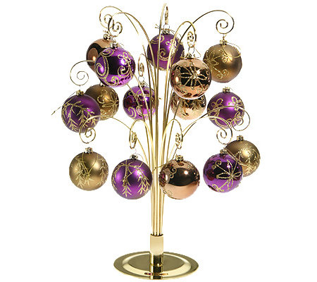 Roccoco Weihnachtsdeko Christbaumkugeln Gold Violett 16tlg Page
