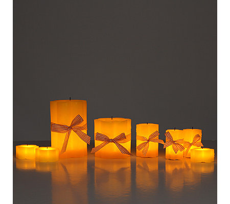 Elambia flammenlose Kerze in Blütenform