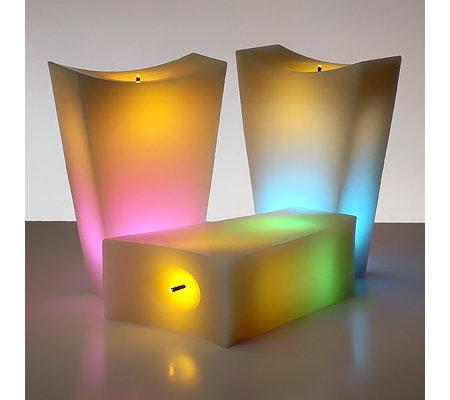 Elambia Kerzen.Elambia Flammenlose Kerzen Glimmdocht Timer 3tlg Set Qvc De