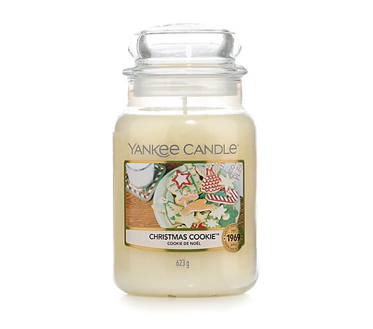YANKEE CANDLE® Duftkerzen-Set Christmas Cookies Large Jar & Illumalid Brenndauer 110-150h