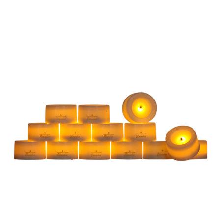 elambia flammenlose teelichter mit timer 24 st ck page 1. Black Bedroom Furniture Sets. Home Design Ideas