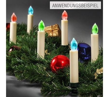 Qvc Weihnachtsbeleuchtung Kabellos.Kerzenzauber Christbaumkerzen Kabellos Farbwechselfunktion Mit Fernbedienung Qvc De