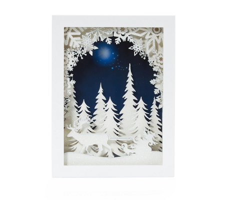 LUMIDA Xmas Light Box beleuchtete Winterlandschaft Timerfunktion