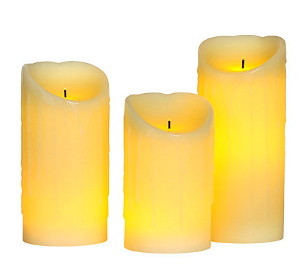 elambia flammenlose kerzen mit schr gem rand timerfunktion 3 tlg page 1. Black Bedroom Furniture Sets. Home Design Ideas