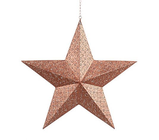 LUMIDA Xmas LED-Metallstern 5h-Timefunktion outdoorgeeignet ca. 56x14x54cm