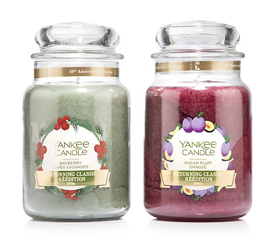YANKEE CANDLE® Jubiläumsdüfte Returning Classics limited Edition 2 Large Jars je 623g