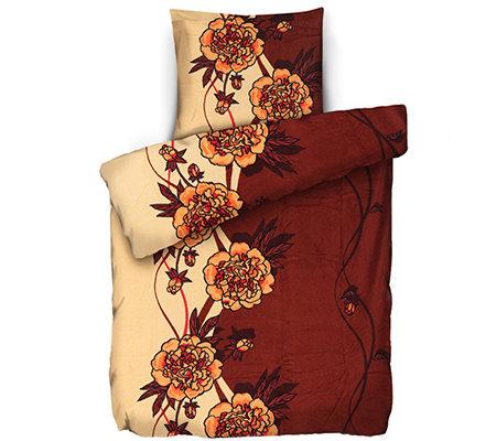 Badizio Classic Mf Plüschtrikot Bettwäsche Blumenranke Einzelbett