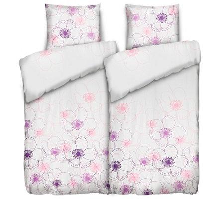 Jerymood Mf Jersey Interlock Bettwäsche Stilvolle Blume Doppelbett