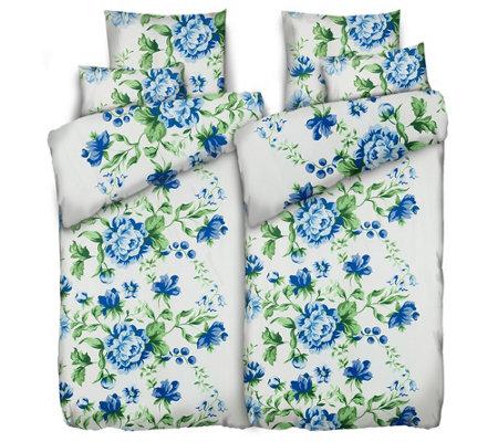 Jerymood Mf Jersey Interlock Bettwäsche Blumen Doppelbett 6tlg