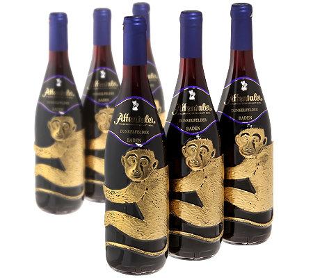 AFFENTALER WEIN 6 Flaschen Dunkelfelder Rotwein QbA Jg