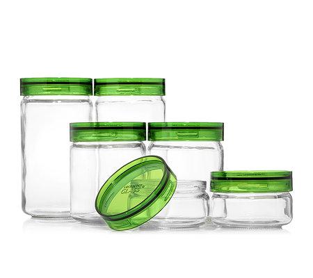 lock lock vorratsdosen aus glas mit ca 240ml 1l 6 dosen. Black Bedroom Furniture Sets. Home Design Ideas