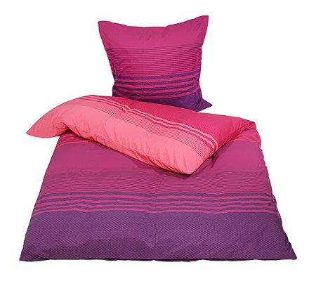 Apricasa Mf Glatt Gewebt Bettwäsche Querstreifen Einzelbett 2tlg