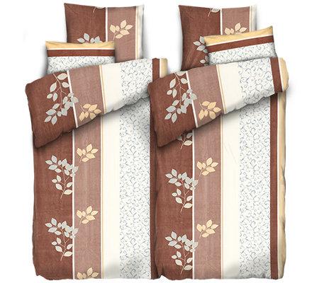 Polarstern Mf Flanell Fleece Bettwäsche Blätterornamente Doppelbett
