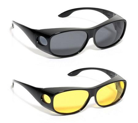 72aca2033d76f7 Sonnenüberbrille & Nachtsichtbrille für Seh- & Lesebrillen 100% UV-Schutz  inkl.