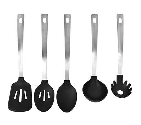 cook 39 s essentials k chenhelfer set edelstahl silikon braten kochen servieren 5 tlg page. Black Bedroom Furniture Sets. Home Design Ideas
