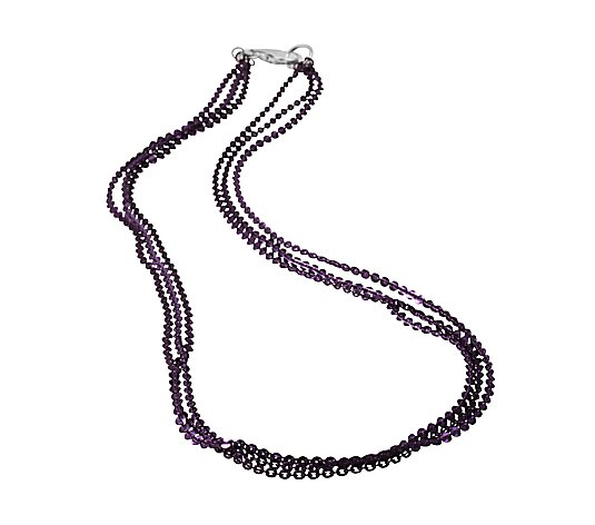 B-Ware Sterling Silber 3rhg. Collier Länge ca.45cm Farbauswahl
