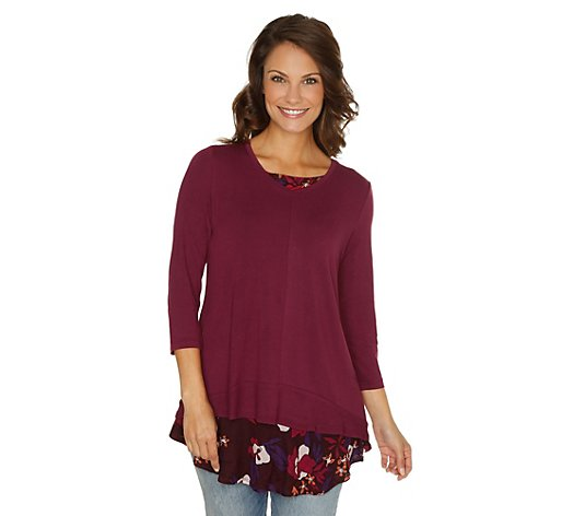 B-Ware LOGO by Lori Goldstein Shirt, 3/4-Arm Top, bedruckt