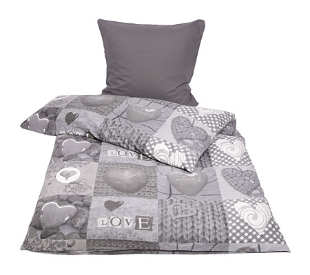 winterengel mf edelflanell herzen bettw sche einzelbett 2tlg page 1. Black Bedroom Furniture Sets. Home Design Ideas