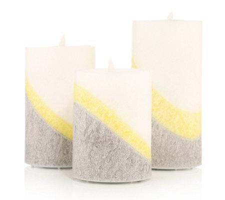 Qvc Elambia Kerzen Mit Timer.B Ware Elambia 3 Flammenlose Kerzen Echtflamme Luma Farbverlauf Timer Qvc De