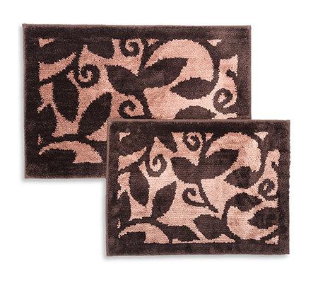 casa fondo mikrofaser 2 fu matten lindenbl tter 45x65cm 50x80cm page 1. Black Bedroom Furniture Sets. Home Design Ideas