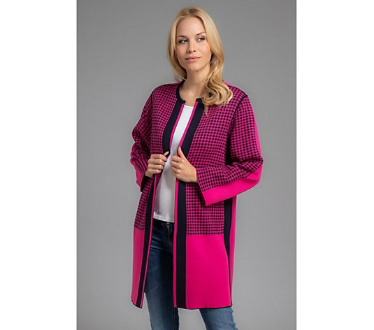 B-Ware THE JETSETTERS Wende-Cardigan 7/8-Arm weite Form