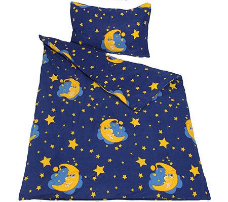 Winterengel Mf Edelflanell Kinderbettwäsche Mond Sterne Einzelbett