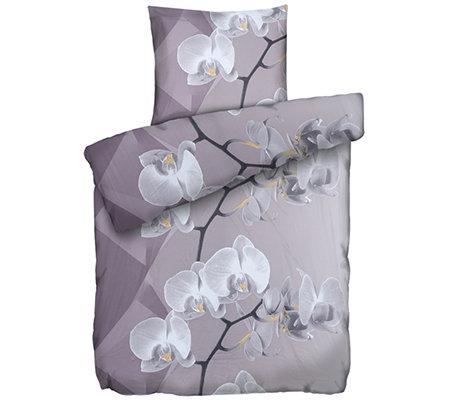 Jerymood Mf Jersey Interlock Bettwäsche Orchideen Einzelbett 2 Tlg