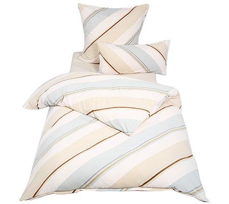 Polarstern Mf Flanell Fleece Diagonale Streifen Bettwäsche
