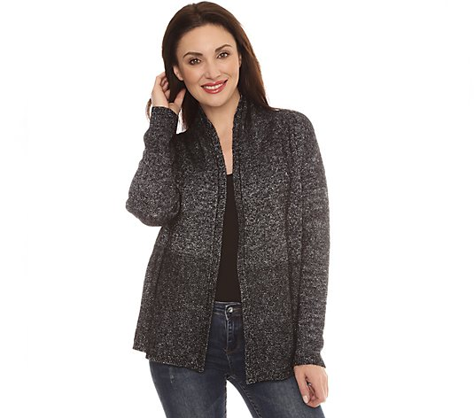 B-Ware FRIEDA LOVES NYC Strickcardigan offene Front Effektgarn