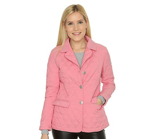 B-Ware FRIEDA LOVES NYC Steppjacke Reverskragen Pattentaschen
