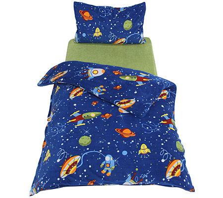 Polarstern Mf Flanell Fleece Kinderbettwäsche Weltall Einzelbett 3