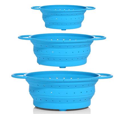bondidou küchensieb aus silikon faltbar ø 23 28 34cm