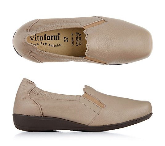 B-Ware VITAFORM Damen-Slipper Hirschleder Welleneinfass