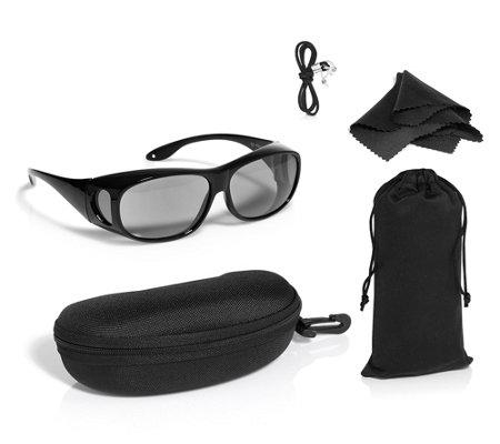e41e33ccb91be9 Sonnenüberbrille für Seh- & Lesebrillen Photochromic Gläser selbsttönend  100% UV-Schutz