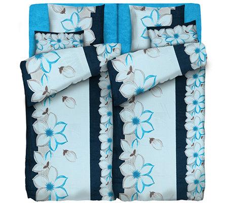 Badizio Classic Mf Plüschtrikot Bettwäsche Große Blüten Doppelbett