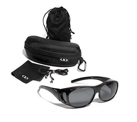 a6c565fb433f72 Sonnenüberbrille mit Flexbügeln für Seh- & Lesebrillen 100% UV-Schutz