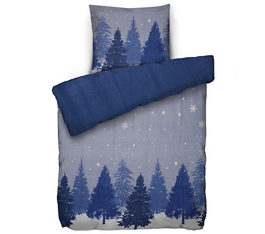 Winterengel Bettwasche Winterwunderland Mikrofaser Flanell Einzelbett 2tlg Qvc De