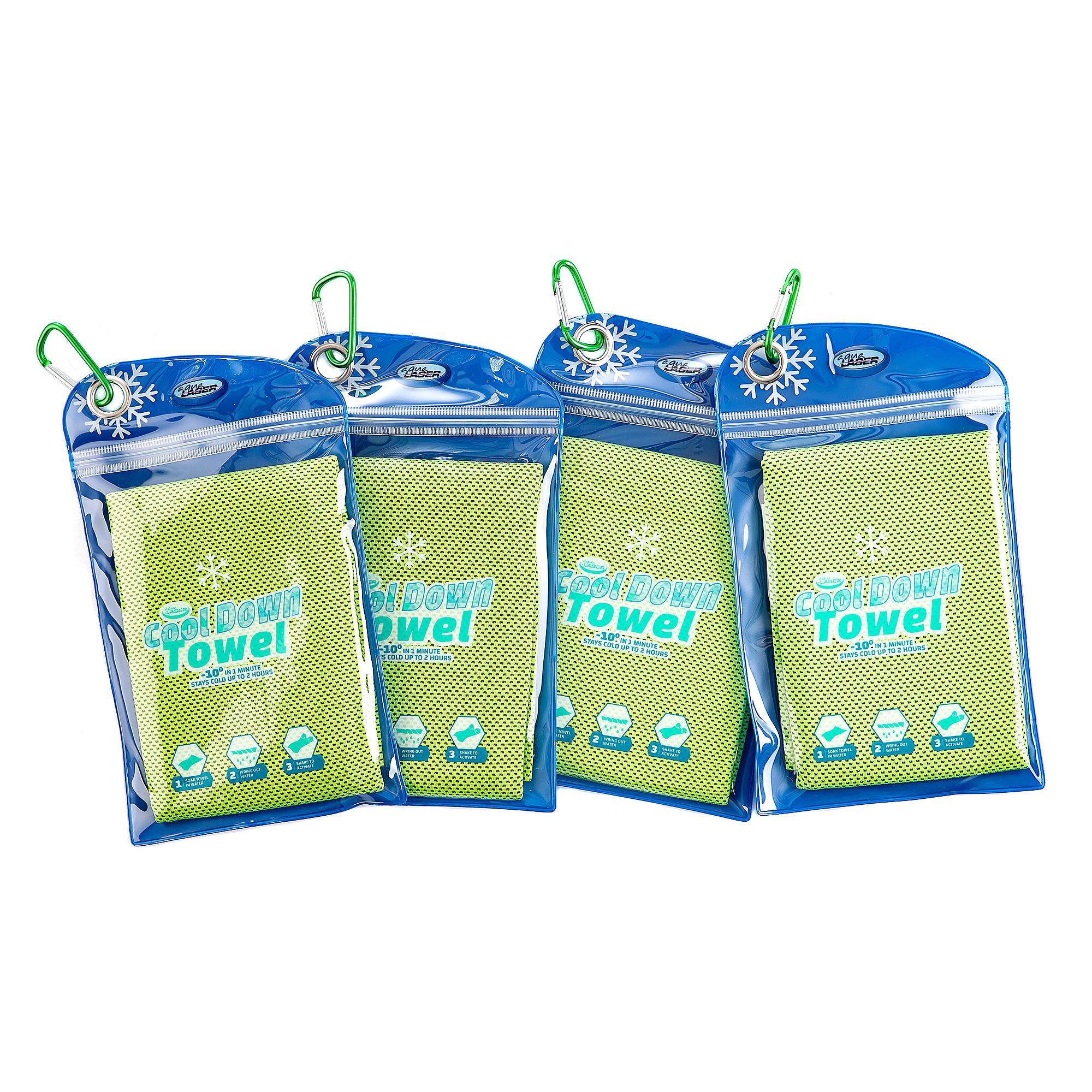 Cool Down Towel kühlendes Handtuch Polybag verschließbar ca. 30x90cm 4 Stück