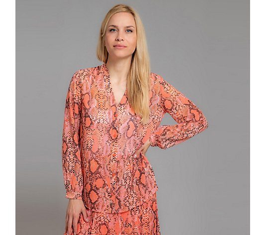 B-Ware THOM by Thomas Rath Bluse 1/1-Arm Crepe Georgette