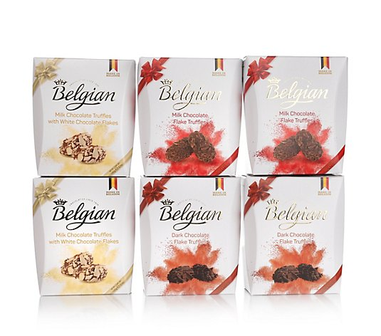 THE BELGIAN Borkentrüffel-Set 6 Packungen 3 Sorten, je 145g Inhalt 870g