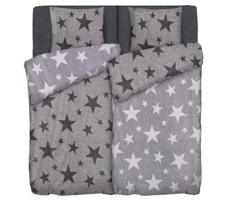Polarstern Mf Flanell Fleece Wendebettwäsche Sterne Doppelbett 6tlg