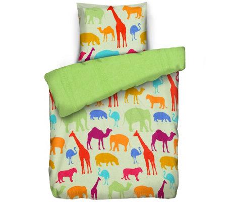 Badizio Classic Kinderbettwäsche Tiere Mf Plüschtrikot Einzelbett