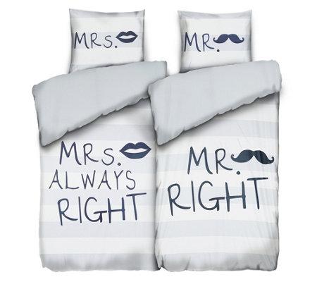 jerymood mf jersey interlock wendebettw sche mr mrs doppelbett 4tlg. Black Bedroom Furniture Sets. Home Design Ideas