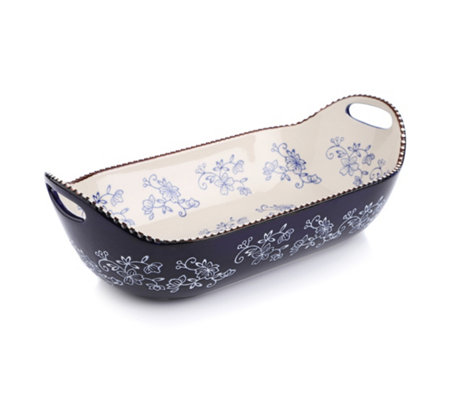 TEMP-TATIONS Floral Lace Servierschüssel oval 38x13cm